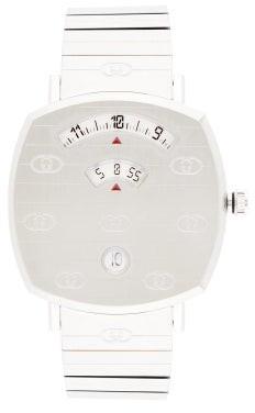 Gucci Grip Three-window Stainless-steel Watch - Womens - Silver