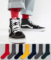 Asos DESIGN Socks In Gray & Bright Colors 7 Pack