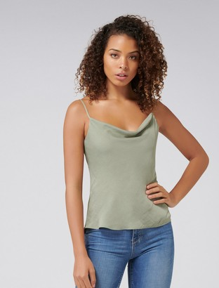 Forever New Carrie Cowl Neck Camisole - Khaki - 14