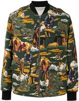 Stella McCartney horse print bomber jacket