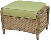 Wildon Home Ottoman with Cushion Fabric: Canvas Air Blue