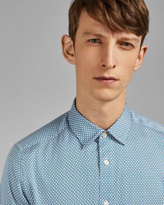 Ted Baker EDDE Geo print cotton shirt
