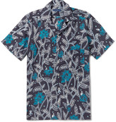 Etro - Camp-collar Printed Linen Shirt