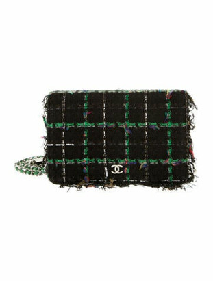 Chanel Robot Tweed Wallet On Chain Black