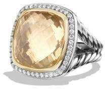 David Yurman Albion® Ring With Champagne Citrine And Diamonds With