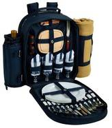 Picnic at Ascot Deluxe Equipped 4 Person Picnic Backpack w/Blanket