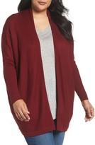 Sejour Plus Size Women's Chevron Cardigan