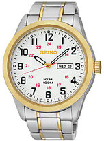Seiko Men's Two-Tone White Dial Bracelet Watch