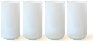 Jonathan Adler White Pop Highball Glass Bundle