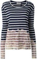 Faith Connexion striped colour block jersey