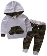 Morecome Baby Boy Hooded Tracksuit Pants Camouflage Outfits (6M, )