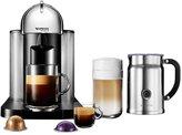 Nespresso Coffee & Espresso Maker with Aeroccino + Milk Frother - Chrome