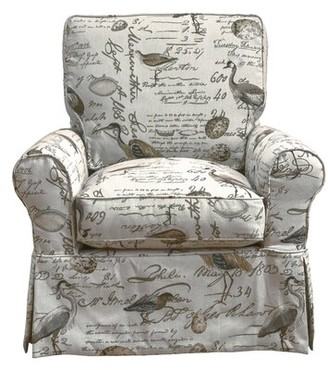 Rosecliff Heights Balhi Slipcovered Box Cushion Swivel Armchair Rosecliff Heights