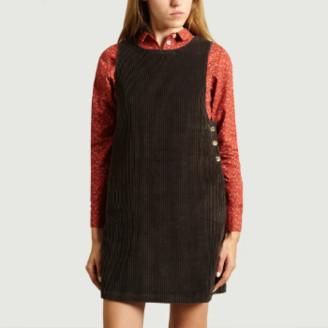 Bellerose Black Cotton Velvet Corduroy Vento Dress - 0 | cotton | black - Black/Black