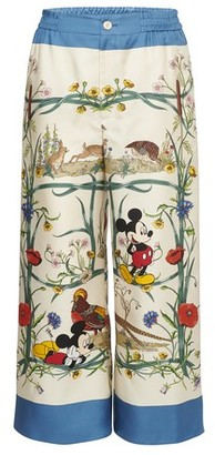 Gucci Mickey Mouse silk pyjama bottoms