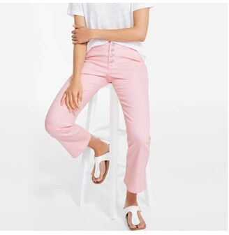 Joe Fresh Women's Exposed Button Jeans, Bright Pink (Size 28)