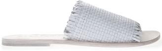 Strategia White Leather Slipper Sandal