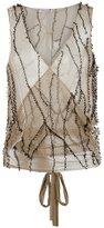 Isabela Capeto wrap mesh waistcoat