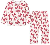 Rachel Riley Cream Bow Print Pyjamas Set