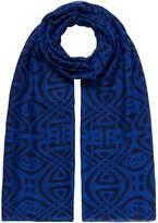 Biba Betsy oversized logo scarf