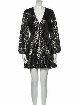 Alexis V-Neck Mini Dress w/ Tags Grey