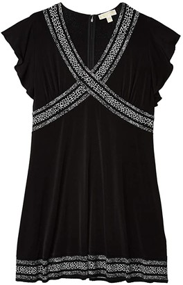 MICHAEL Michael Kors Size Snake Mini Dress (Black) Women's Dress