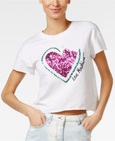 Love Moschino Cropped Watermelon Graphic T-Shirt