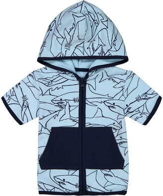 Andy & Evan Sharks Short Sleeve Zip Hoodie