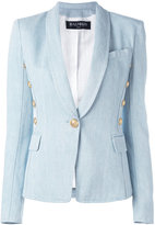 Balmain metallic embellished blazer - women - Cotton/Spandex/Elastane/Viscose - 38