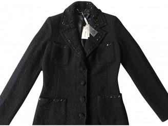 Blumarine Black Wool Coat for Women Vintage