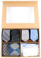 The Tie Bar Blue and Gray Large Style Box