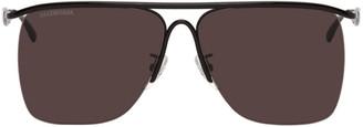 Balenciaga Black Aviator Sunglasses