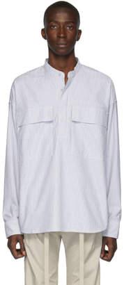 Fear Of God Grey Stripe Pullover Henley Shirt