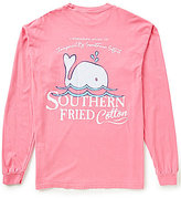 Southern Fried Cotton Men's Baby Whale Graphic Long-Sleeve Tee