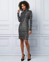 Le Château Sequin Long Sleeve Cocktail Dress