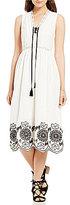 M.S.S.P. Embroidered Cotton Midi Dress