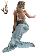 "Kpblis®Knitted Mermaid Blanket Tail for Kids and Adults,Super Soft and Fashion Sleeping Bags 75""*31""(Green)"