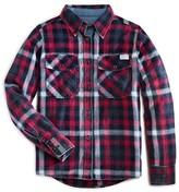 7 For All Mankind Girls' Plaid Flannel Boyfriend Shirt - Sizes 7-16