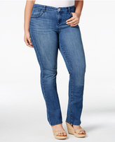 Style&Co. Style & Co Plus Size Braided-Trim Bootcut Jeans, Only at Macy's