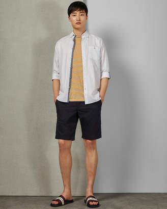 Ted Baker TEXSHOR Smart textured cotton shorts