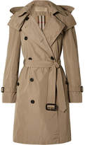 Burberry - The Amberford Hooded Shell Trench Coat - Mushroom