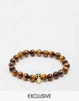 Reclaimed Vintage Skull Beaded Bracelet