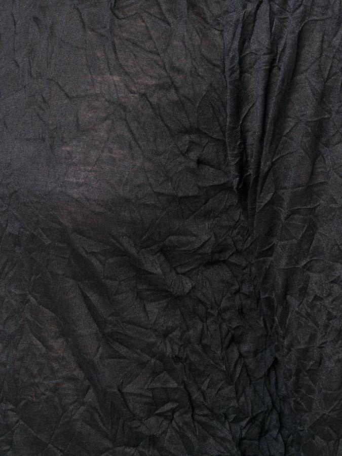 Issey Miyake round neck textured top