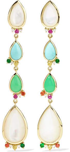 Ippolita Prisma 18-karat Gold Multi-stone Earrings