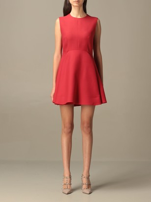 Valentino Short Dress In Crepe Couture