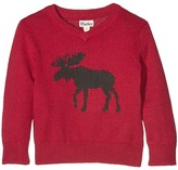 Hatley Moose V-Neck Sweater with Elbow Patches (Toddler/Little Kids/Big Kids)