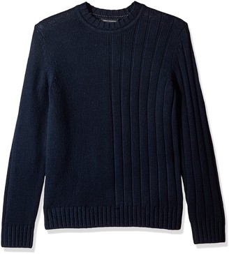 French Connection Men's Cotton Wool Mixed Stitch Plain
