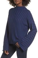 BP Women's Wide Rib Mock Neck Sweater