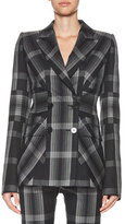Alexander McQueen Plaid Patched British Flag Blazer, Multi