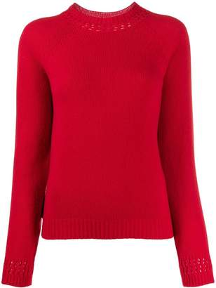 A.P.C. ribbed cut-out detail sweater